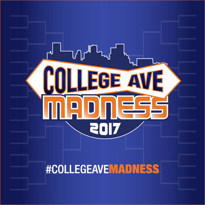 College Ave Madness - 2017 hashtag college ave madness